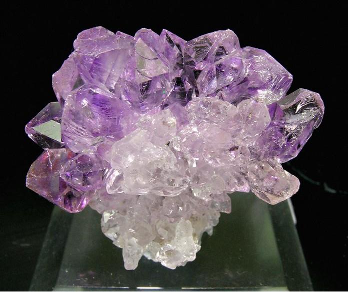 India Sceptered Amethyst cluster from Kakamunurle Mine Karur Dist.